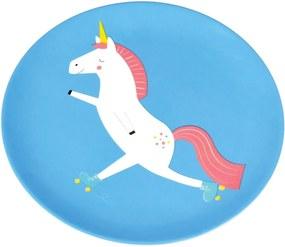 Farfurie Rex London Magical Unicorn, albastru
