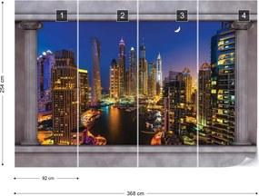 Fototapet GLIX - Dubai City Roman View + adeziv GRATUIT Tapet nețesute - 254x184 cm