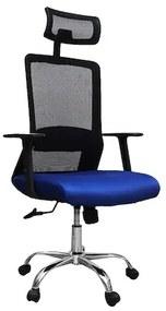 Scaun de birou ergonomic HELSINKI, mesh, albastru negru