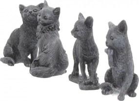Set patru statuete Pisicutele norocoase 9 cm