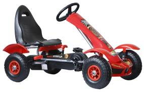 Homcom Go-Kart cu Pedale pentru Copii 3-8 Ani Rosu