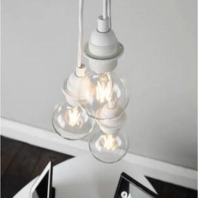 Lustră cu 3 cabluri Bulb Attack Uno Primary, alb