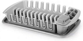 Scurgător de vase Tescoma Clean Kit, cu tavă, gri