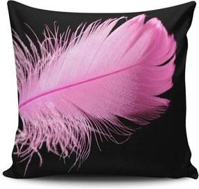 Pernă pentru scaun Gravel Pink Feather, 42 x 42 cm, cu umplutură
