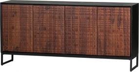 Bufet inferior maro din lemn 170 cm Nuts Woood