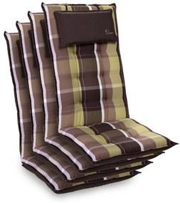 Sylt, pernă tapițată, pernă pentru scaun, spătar înalt, poliester, 50 × 120 × 9 cm
