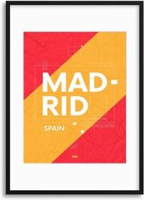 Imagine în cadru - Madrid City Travel Poster 30x40 cm