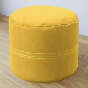 Goldea taburet decorativ 50x40 cm - loneta - galben închis 50 x 40 cm
