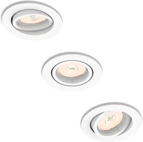 Philips 50183/31/PN - SET 3x Lampa incastrata ENNEPER 3xGU10/5,5W/230V
