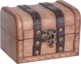 Cutie Treasure din lemn maro 9x12x8.7 cm - modele diverse