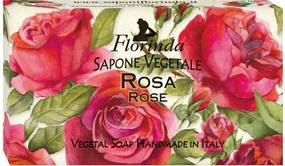 Sapun vegetal hidratant pentru maini, fata si corp, 100 gr - Magia dei Fiori - Flori de trandafir