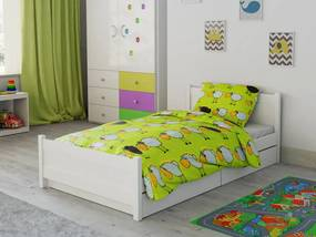 Lenjerie de pat bumbac pentru pătut Miel verde