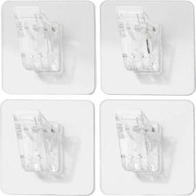 Set 4 agățători cu clips de perete Compactor Magic Clips