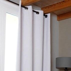 Draperie groasă OSLO albă 140 x 260 cm 2 buc