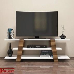 Comoda Tv Flower - Alb/Nuc