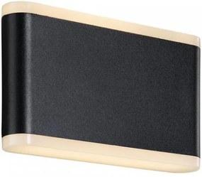 Aplica neagra din aluminiu si plastic cu 2 becuri pentru exterior Akron Seventeen Nordlux