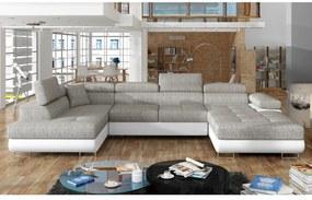 Expedo Canapea extensibilă în formă de U CORGI, 345x90x202, berlin 01/soft 17, colţ stânga