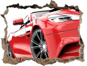 Autocolant 3D gaura cu priveliște Mașină sport