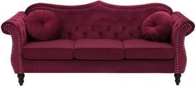 Canapea Skien, rosu burgundy, 91 x 200 x 83 cm