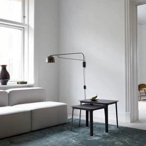 Aplica de Perete GRANT Neagra 43cm NORMANN COPENHAGEN - Otel Negru Lungime (17.5cm) x Latime (43cm) x Inaltime (22cm)