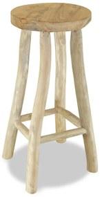 244545 vidaXL Taburet de bar, lemn masiv de tec