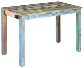 243451 vidaXL Masa bucătărie din lemn masiv reciclat, 115x60x76 cm