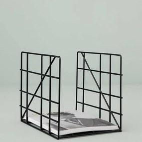 Suport pentru Reviste din Metal - Metal Negru W(31cm) x Inaltime(25cm) x D(23.5cm)