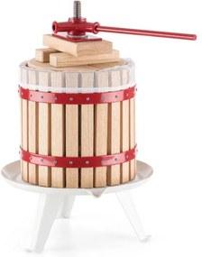 OneConcept Berrymore Press Vin Storcator Fructe 6l XLdin lemn de oțel cu clichet mecanic