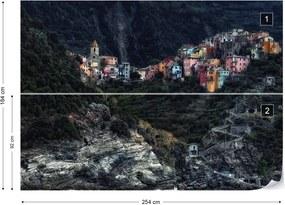 Fototapet - Village On The Rocks Vliesová tapeta - 254x184 cm