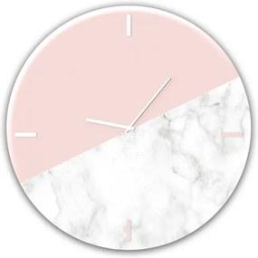 Ceas de perete Pink Marble GC011, Ø 30 cm