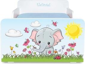 Pat copii Elefantel 2-12 ani cu saltea cadou