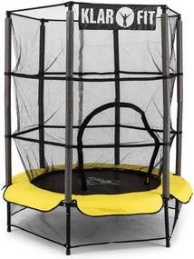 Klarfit Rocket Kid 3 trampoline siguranță 140 cm suspensie bungee net galben