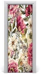 Autocolante pentru usi model floral