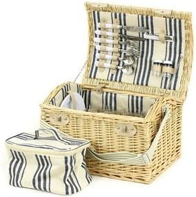 Coş de picnic Adrienne, pentru 4 persoane, cu geantă frigorifică