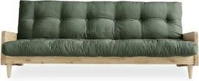 Canapea variabilă Karup Indie Natural, verde