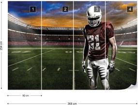 Fototapet GLIX - American Football Player Stadium  + adeziv GRATUIT Papírová tapeta  - 368x254 cm