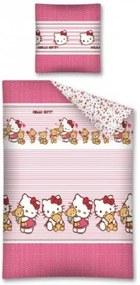 Lenjerie de pat 2 piese bear Hello Kitty
