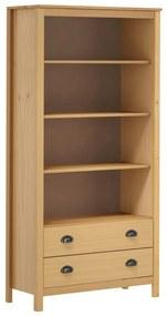 289007 vidaXL Bibliotecă Hill Range maro miere 85x37x170,5 cm lemn masiv pin