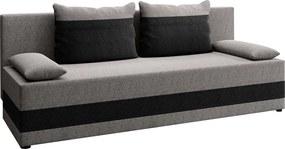 Canapea extensibilă, gri / gri închis, PREMIUM