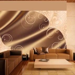 Fototapet Bimago - Brown satin + Adeziv gratuit 250x175 cm