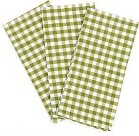 Șervet de bucătărie Cub, verde, 50 x 70 cm, set 3 buc.