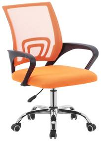 Scaun de birou, portocaliu/negru, DEX 2 NEW