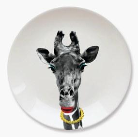 Farfurie din ceramică Just Mustard Giraffe