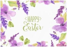 Set 2 suporturi pentru farfurie Apolena Happy Easter Flowers, 33 x 45 cm