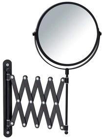 Oglindă cosmetică de perete cu suport telescopic Wenko Exclusive, negru