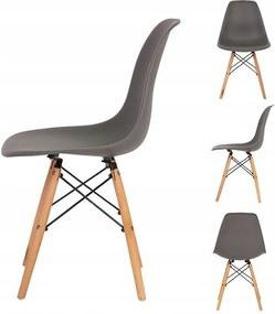 Set 4x Scaune Moderne pentru Bucatarie, Living, Sufragerie sau Exterior, Model PC-005, Culoare Gri antracit