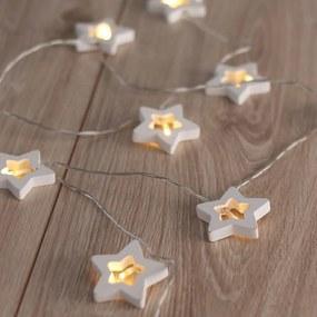 Ghirlanda luminoasă în formă de steluțe DecoKing Star, lungime 1,65 m