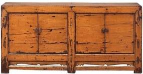 Bufet inferior portocaliu din pin 194 cm Sideboard