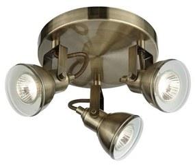Searchlight - Lampă spot FOCUS 3xGU10/50W/230V alamă