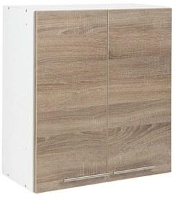 Dulap suspendat bucatarie, 60x30x65 cm PAL Alb/Stejar Sonoma